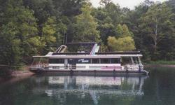 1993 Stardust Houseboat 16x68 unique reverse floor plan, single 120 mercruise engine, 12.5 westerbeke generator, 2500 watt inverter, central heat/air, working fly bridge with party top, four bedroom, washer/dryer, dishwasher, 10lb ice maker,new outdoor