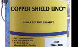 Copper Shield UNO is a high cuprous oxide content with a coating that provides a self-polishing ablative technology. A full season protection for moderate fouling conditions and no paint buildup will occur and eliminates the need for heavy sanding. This