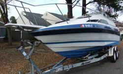 We are selling our 25ft 1988 Bayliner Ciera Sunbridge cabin cruiser. Engine is a sterndrive 260hp OMC Cobra V8 5.0 liter in great working condition. Comes with all navigation lights, horns, blower motor, bilge pump, radio, power convertor, dual battery