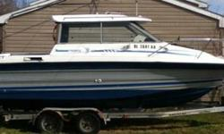 1989 Bayliner Trophy 2159 with rare Alaskan bulkhead feature for year round use. LOA 20.67 ft., 8 ft. beam, 6? 2? headroom in cockpit and 3 ft. draft max. Re-powered with a low hour 2000 Mercury Mariner 200 HP outboard motor. Currently registered in