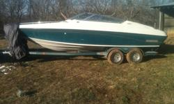 For sale is a 1993 Crownline 225 BR I/O boat. Open bow with a 5.7 liter mercruiser GM 350 small block. There are 365 hours on the boat. The engine is a brand new crate motor, brand new floor, and brand new carpet. Carburetor needs cleaned or spark plug