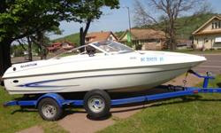 MX175 Anniversery Edition w/3.0 Volvo Penta Engine-Has very low hours and very clean and stored in-doors every winter. Bought it new 2006. It has a large sun pad for fishing or sun-bathing, ski locker and slide-in fishing seat pedestals. New tires put on