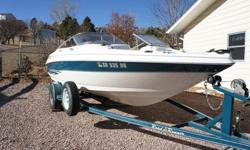 2000 Larson SEI 186 Fish & Ski with a 1998 Fuel & Oil Injected 2 stroke Johnson 150. Motor has Stainless Steel prop with two spare different pitch props. Matching color, custom, single axle trailer. Trailer has bearring buddies, new winch strap and good