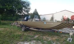 2005 Lowe Roughneck Boat. 18.6 ft holds 6 ppl. 60 HP Mercury Big Foot Motor 4 stroke, (not sure how many hours ) Live well, Depth finder, V Hull, Center Steering,Tow Bar, Trailer and 3 removable seats for rear...The Motor and Boat is a 2005 the trailer is