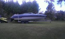 1986 Chris Craft Stinger 260. Twin 5.7 350 Chevy motors. Runs Great. Mercruiser afpha 1 outdrives. 2 yr old 2 axile aluminum, Easy Load trailer w/ brakes. Cubby cabin with frig, sink, toliet. Sleeps 2. Everything works on boat and trailer. FAST