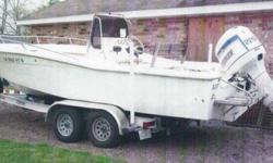 22.4' 1982 Trojan Bay Boat ~~~ Reduced again Motor 1998 Evinrude 225 Horsepower w/ Power Tilt & Trim Aluminum Boat Trailer Aluminum step plates (4) Disc Brakes - 2 Axles- Spare Tire Surge Brakes Wide Tires (Tandem-Axle) All for $9000 Motor runs great Call