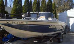 16.9 ft lowe sea nymph v- fm 170 wt - series s, 2002 yacht club trailer and 70 hp yamaha. great for the big lakes and small lakes. very low mileage,minn kota trolling motor, fish finder and stereo. full windshield and live wells just back from the boat