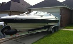 Very well maintained Regal, in excellent condition. 5.7 GL with Volvo Penta outdrive. Stainless and aluminum props, bow cover, bimini, and Taylor sun umbrella, and boat cover. Has six Memphis audio speakers, amp, and Sony cd player with ipod conn. Trailer