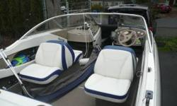 This Bayliner is complete with a Mercruiser Alpha 1, 135hp four cyl engine that has all the updates and is like factory new. In fact it has the factory recommended carb update installed 2009.Its in immaculate condition and always stored in doors.Its
