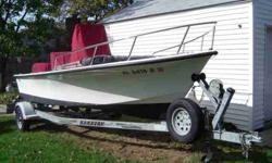 1999 C Hawk 18' with trailer 1999 90 horsepower two stroke Johnson OB this boat needs nothing Except a captain ,portable color gps fish & depth finder.40gal in board gas tank,bimitop ,anchor,rope Its ready to roll Way too much to list Please email me with