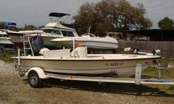Flats boat with 80HP Yamaha 4-stroke, Performance Trailer, Color depthfinder, trolling motor, 2 livewells