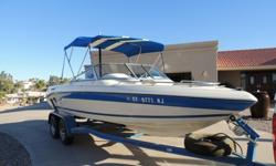 19 foot 1994 SeaSwirl ski boat in excellent condition. In and out OMC 5.0 engine with 336 hours. Walk-thru bow, ski pylon in boat, tandem trailer with removable hitch. Has swim step with fold down ladder and transom hot/cold shower at back. It has a fish