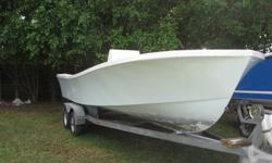 21 Privateer For Sale ( NO ENGINES )   1983 / 2011 Completely Redone New Awlgrip Paint New Non Skid New Center Console Ready For Power + Rigging