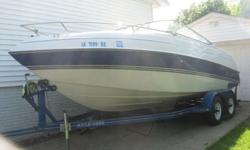 1993 Four Winns Sundowner with cuddy, 5.8 Liter with stainless steel prop, lots of extras - GPS, Marine Radio, & 2 Fish Finders. Seats 10 people. Includes life jackets & tube. Boat is in excellent condition! Call Rick at 563-451-4262.