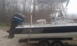 22' 1996 Bay Quest - $10,900.0022' Bay boat, 225 Mercury Outboard motor with custom made T-top with hard shell fiberglass accessories box. Motor has lots of power and speed. Motor has brand new water pump and newly cleaned injectors. Boat comes with a