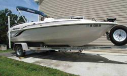 2003 Hurricane GS 170 in excellent condition. This boat has less than 290 hours and has been impeccably maintained, always used in fresh water. 2003 Johnson 90HP salt-water edition 2-stroke motor and 2003 Wesco galvanized all-aluminum boat trailer. Boat