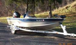 2002 Alumacraft Magnum 165 CS fishing boat with a 90 horse Mercury 4 Stroke. Trailer, trolling engine and Lowrance depth finder included. Lots of storage. Runs well. 608-689-2026Listing originally posted at http