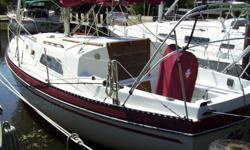 Nicely kept sailboat with 3 ft 6 in draft, Yanmar Diesel, New Auto pilot, 2 year old 130% Genoa, Full batten Main, New battery charger, Updated Cushions, New head, New Bimini, All control lines lead to cockpit. VHF, Pressure water. Ready to go !!!