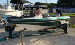 90HP Mercury and Nitro trailer, Trolling motor, fishfinder, electric trailer wench, Livewell, Used in freshwater only Nice boat.