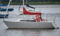 """The O'Day 272 was designed by C. Raymond Hunt Assoc. to be fast, nimble and easily sailed by one or two people. What best describes this boat is that it's """"FUN AND EASY TO SAIL!"""" Her NEW Westerbeke diesel has very low hours and is in GREAT shape. Interior"""