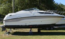 7.4 MPI Volvo with Volvo duo drive, No Trailer, No Canvas, No batteries or props, BANK REPO, Galley, fridge, stove, sink, Marine AC, Enclosed Marine head with macerator. Boat is sold As is, bring offers