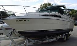 1989 SeaRay Sundancer 268, 7.4l Bravo Outdrive, Low hours (approx. 750), Sleeps 5-6 comfortably, Galley with fridge and stove, and table. Head with pump toliet and shower. Great Shape! Please call or text 563.564.0433 with any questions!