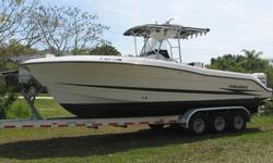 This 2000 Hydra-Sports 2796 Center Console offshore fisher is a very high quality vessel in every aspect. This boat has been very well maintained and is loaded with options including Hummingbird and Ratheon electronics. Engines: She?s powered by two high