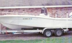 22.4' 1982 Trojan Bay Boat 1998 Evinrude 225 Horsepower w/ Power Tilt & Aluminum Boat Trailer (4) Disc Brakes - 2 Axles- Spare Tire Surge Brakes Wide Tires All for $9999.99 Motor runs great Call Andy 337 2586726 or 337 4532681