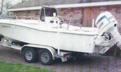 22.4' 1982 Trojan Bay Boat Evinrude 225 Horsepower w/ Power Tilt & Trim Aluminum Boat Trailer Aluminum step plates (4) Disc Brakes - 2 Axles- Spare Tire Surge Brakes Wide Tires (Tandem-Axle) All for $9999.99 Motor runs great Call Andy 337 2586726 or 337