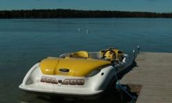 2003 Seadoo Sportster Jet Boat, 130 HP 2 Stroke Motor, Top Speed Is Around 60 MPH and Gets There Quick. Runs Great, New Jet Pump Wear Ring, New Engine, Has About 50 Hours On It. All Seats in Good Shape, No Cracks or Tears, All Paint in Good Shape, Seats 4
