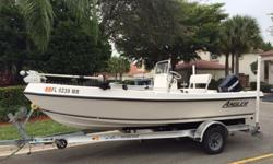 ;;'''2005 Angler 173. Included in the sale is a 2010 Magic Tilt Aluminum Trailer. The boat comes with a 75LB Motor Guide Wireless trolling motor. W New BatteriesThe motor has approx. 300HrsBoat is in excellent condition with minor scratches from wear and