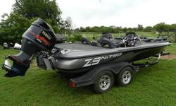 On the lot is a 2012 Nitro Z9 DC with a 2004 Yamaha 300HPDI with fresh overhaul. Package includes custom tandem trailer, Lowrance HDS 8 and Lowrance HDS 5, 4 Bank Battery Charger, Hyd Steering, Motorguide 36V TM, SS Prop and Jackplate. Super clean boat!