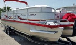 """Foam filled U shaped pontoons, Ultra Built in toon boarding steps, 50 gallon in toon tank, Fiberglass Performance Console with Chrome Smartcraft gauges ,Hydraulic Steering ,Docking lights, SS Cup holders,Racing Flag pattern seats and extended Paneling 28"""""""
