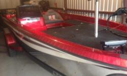 1996 Bass Cat Pantera II with 200 Mercury E.F.I, Minn Kota 80 # foot operated Trolling Motor, 2 Elite 7 HDS Graphs on Bow and Console, Down Scan, Insertable Flipping Deck, LED Lighting, on board charger, Hot Foot, Radio and Speakers, New Bass Cat Custom