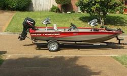 This Bass Tracker Pro Team 175TXW boat is 17 feet 10 inches with a 90 inch beam. Hull overall appears to be in excellent condition. There are no gouges and few minor blemishes from docking. A couple of the boat seats show some seams coming apart. The