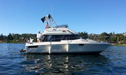 Ready to go Today!Newer Merc Cruiser V6 engines Freshwater cooledTuned summer 2014, new botton paintAlochol/electric stove800 watt inverterMicrowaveNewer refrigeratorCompletly equipped ready to go!TEMPORARY DOWNTOWN BELLEVUE MOORAGE