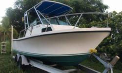 Parker walk-around boat for sale this boat is fully loaded with brand new floors.. Turn-Key ready starts first time always, very stable in ruff water which is another plus... included Supreme kicker sound system in audio system along with hummingbird