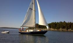 The Dawn Treader is a beautiful navy blue 1970 Morgan 34'. Maintained professionally for the last 14 years, her sleek build leaves all other boats her size feeling stout and clunky. The intelligent layout offers space for the whole family to sleep