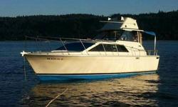 FOR SALE Here we have a beautiful 1972 Trojan 26 foot. Cabin cruiser, Includes tandem axle trailer..Chrysler 225 hp v-8 gas powered. Dual 50 gallon fuel tanks. Aprox 260 mile range. Paragon v drive trans, new prop, shaft just trued, cutlass bearing new,