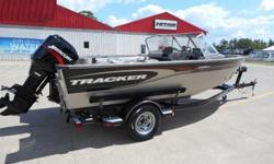 Here is a great fishing boat. This is an aluminum boat that is over 18 ft in length. It is powered by a Mercury 115ELPTO. It has 2 live wells and two separate bait bucket locations. It also has a 55lb Minnkota trolling motor and a Lowrance Mark 5 on the