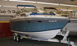 Four Winns 245 Visa Cruiser in great condition. 5.7 Merc Cruiser Cobra with 340 HP, 72 gal fuel, 20 gal water, passenger capacity 10, Stereo, AFT cabin, Trim Tabs, Sleeps 4, Porte Potty, 2 new batteries, Swim Platform and fish finder, Alcohol Stove, Ice