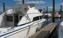 This Classic 1985 Classic Bertram 30 FlyBridge Cruiser Is In Outstanding Condition ** The 30' FlyBridge Cruiser Was Only Built By Bertram In 1984 And 1985 Making Her A Very Rare And Collectible Model ** She Is Powered By The Highly Reliable And Economical