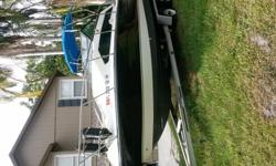 Very nice boat. New starter and battery. Comes with a dual axel aluminum trailer.Has all the accessories. Overall clean boat. Need to replace motor estimated cost 1700.260 horsepower. 350 mercruiser I/O. Sleeps 4.Has 12 volt refrigerator, bathroom, sink,