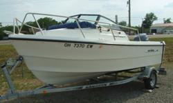 2010 Arima SeaChaser 17 - a division of Defiance Boats, Seattle. 17' x 8' beam powered by a 2011 Yamha 90 4 stroke. Trailer is a 2014 Loadmaster galvanized. Entire package is like new. The boat handles Lake Erie well and is a great fishing and family fun