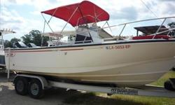 1995 Boston Whaler Outrage 24. 2006 - tan.axle. McClain Trailer. 86 and 220Qt Ice Chest, 2 Spare tires, new trailer tires, Furuno - GPS/Fish Finder, VHF radio, pioneer Stereo. Boat Blue print and specs. Double Bimini w/bow cushions.Service records