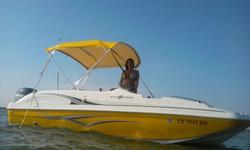2011 Hurricane 19' Sundeck Sport 188 deck boat for sale. Boat is rated for 10 people, extremely stable and very economical to run. This boat is in excellent condition and runs fantastic. We are the original owners. Boat equipped with bimini top with