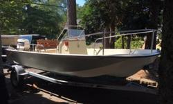 "A beautiful 1977 Boston Whaler Montauk, 17 feet long and in amazing shape for its vintage. This is a perfect boat for beginners or experienced boaters. Unsinkable and great for tubing, fishing or just cruising around. A 17"" draft means you can take this"