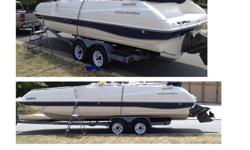 We are moving out of the lake area and want to sell our boat.1998 Monterey 23ft deck boat with Volvo Penta 5.0L inboard engine.Boat is clean and runs great. We have only put 10 hours on it in the last 2 years.Well kept and maintained. Comes with, ski