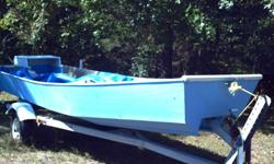 homemade trout fishing boat made to run on rivers in shallow waters but with good speed and stability of fishing. Catamaran foam filled unsinkable hulls.