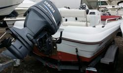 VERY NICE 2002 19 TRUIMPH CENTER CONSOLE FISHING MACHINE POWERED BY VERY ECONOMICAL 4 STROKE YAMAHA 115HP OUTBOARD WITH 95 ORIGINAL HOURSNICE GALVANIZED SINGLE AXEL BUNK TRAILER THAT CUSTOM FITS THE BOAT PERFECTLY.THIS BOAT WAS TAKEN IN AS A TRADE IN BY